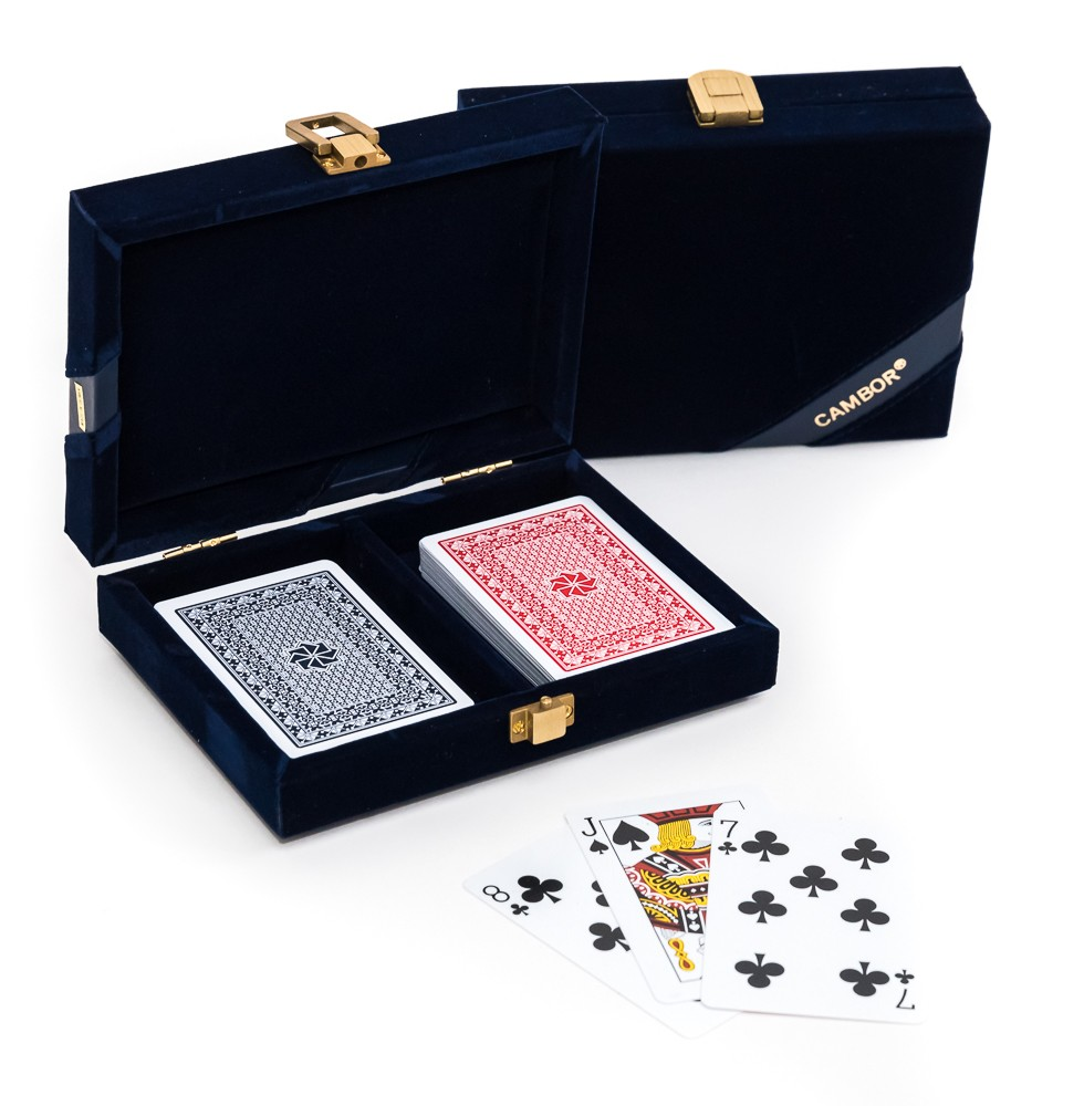 Michael 100% Plastic Washable Playing Cards In Case - Blue