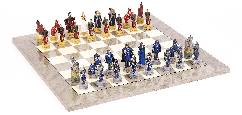 King Arthur Chessmen & Superior Board