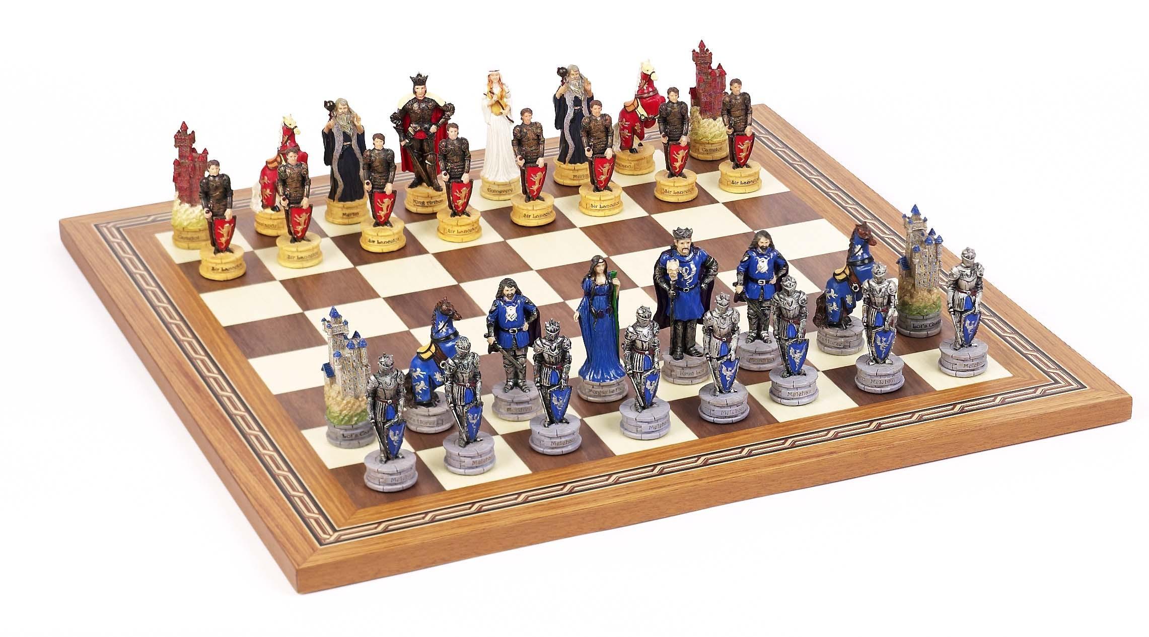 King Arthur Chessmen & Mosaic Board