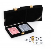 Michael 100% Plastic Washable Playing Cards In Case - Black