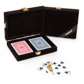 Michael 100% Plastic Washable Playing Cards In Case - Brown