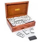 Deluxe Jumbo Size Double Nine Dominoes Set Two Tone Tiles