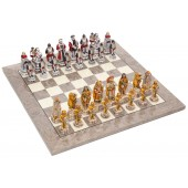 Incas and Spanish Chessmen & Superior Board