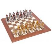 Incas and Spanish Chessmen & Champion Board