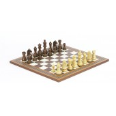Tournament Staunton Chessmen & Mosaic Board