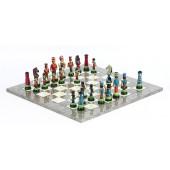 Huszar Chessmen & Superior Board