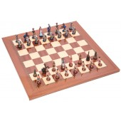 Romans and Egyptians Chessmen & Designers Chess Board