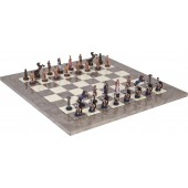 Romans and Egyptians Chessmen & Superior Board