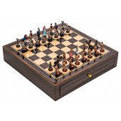 Roman and Egyptians Chessmen & Chess Board Case