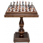 Romans and Egyptians Chessmen & Marble Table