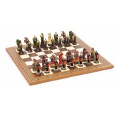Robin Hood Chessmen & Mosaic Board