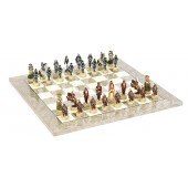 Japanese Samurai Chessmen & Superior Board