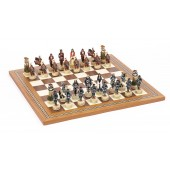 Japanese Samurai Chessmen & Mosaic Board