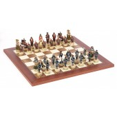Japanese Samurai Chessmen & Champion Board