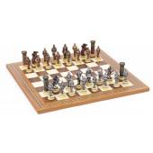 Medieval Chessmen & Mosaic Board