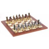 Medieval Chessmen & Champion Board