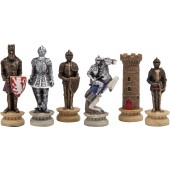 Medieval Hand Painted Chessmen