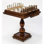Champion Chessmen & Marble Table