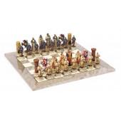 Crusader Chessmen & Superior Board
