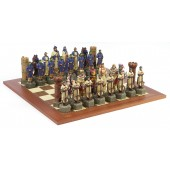 Crusader Chessmen & Champion Board
