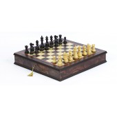 French Staunton Chessmen & The Ultimate Chess Board/Cabinet