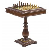Designer Staunton Chessmen & Chess, Checkers, and Backgammon Table
