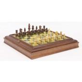 Designer Staunton Chessmen & Cabinet Board