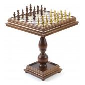 Champion Tournament Chessmen & Marble Table