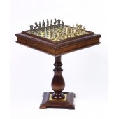 Victorian Chessmen & Chess, Checkers/Backgammon Table