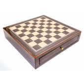 Deluxe Chess Board Case with Storage Compartment