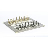 Brass Staunton Chessmen & Superior Board