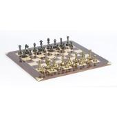 Brass Staunton Chessmen & Master Board