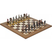 American Civil War Chessmen & Mosaic Board
