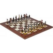 American Civil War Chessmen & Champion Board