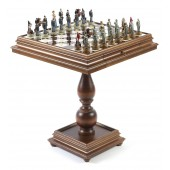 American Civil War Chessmen & Marble Table