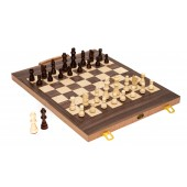The Gamester Chess-Checkers & Backgammon Combination with Two Extra Queens