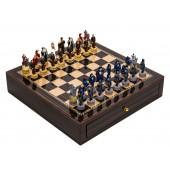King Arthur Chessmen & Deluxe Chess Board Case