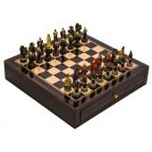 Robin Hood Chessmen & Deluxe Chess Board Case