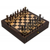 Medieval Chessmen & Deluxe Chess Board Case