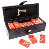 Cambor's Jumbo Size Double Six Dominoes Set